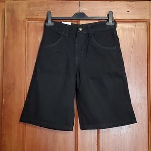 NWT Rustler Black Jean Shorts Size 12 Regular